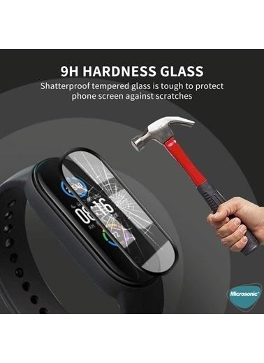 Microsonic Xiaomi Mi Band 4 Tam Kaplayan Temperli Cam Full Ekran Koruyucu Siyah Siyah